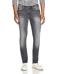 Wrangler Men's Straight Fit Jeans (8907222411534_WRJN6019_36W x 33L_Smoked Grey)