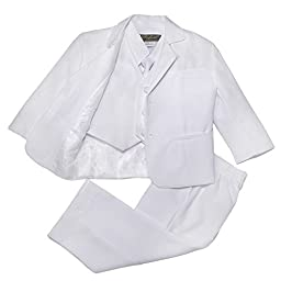 NancyAugust Classic Baby Boys Formal Suit S-XL in White-White-S