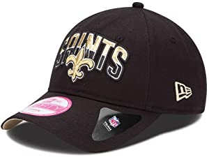 New Orleans Saints Ladies 9Forty Adjustable Cap 2013 Draft by New Era