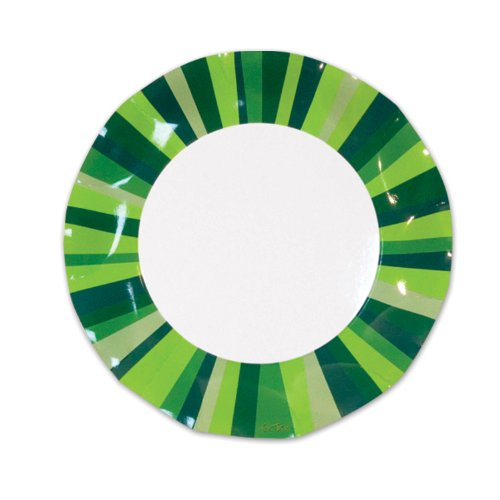 Green Stripe Small Plates (10/Pkg) - 1