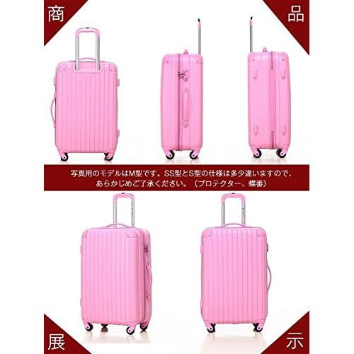[Travelhouse]スーツケース キャリーケース 軽量 TSAロック ファスナータイプ 半鏡面仕上げ(S, red)