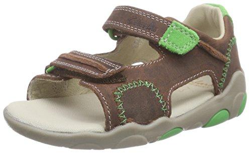 Clarks - Softly Bay Fst, Sneakers per bimbi, marrone (tan leather), 21
