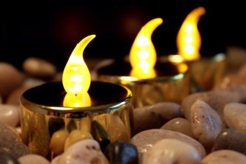 6 Gold LED Teelichter