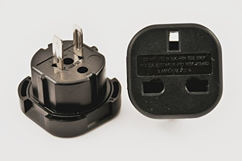 Vct Vp9F Converts 3 Pin Uk Plugs To Usa Or Australian Plug Adapter