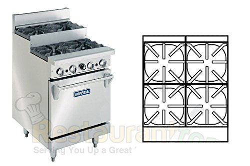 Imperial-Commercial-Restaurant-Range-24-Step-Up-With-1-Standard-Oven-Natural-Gas-Model-Ir-4-Su