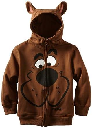 Scooby Doo Big Boys' Character Hoodie, Brown, X-Large
