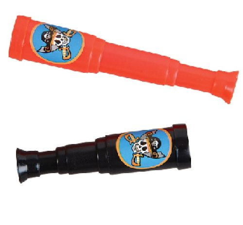 "Rhode Island Novelty 5"" Pirate Telescopes, 12-Pack"