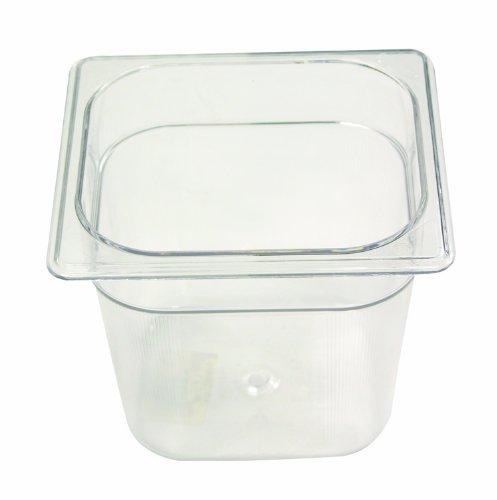 Rubbermaid Commercial Fg105P00Clr Cold Food Pan 1/6 Size 2-1/2-Quart front-583972