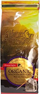 Mt. Whitney Coffee Roasters: 12 oz, USDA Certified Organic Shade Grown Peru, Single Origin, Medium Roast, Ground Coffee by Mt. Whitney Coffee Roasters