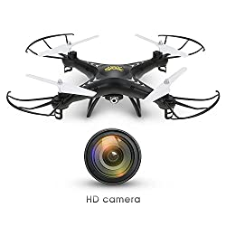 Holy Stone HS110W FPV Drone with 720P HD Live Video Wifi Camera 2.4GHz 4CH 6-Axis Gyro RC Quadcopter with Altitude Hold, Gravity Sensor and Headless Mode Function RTF from Holy Stone