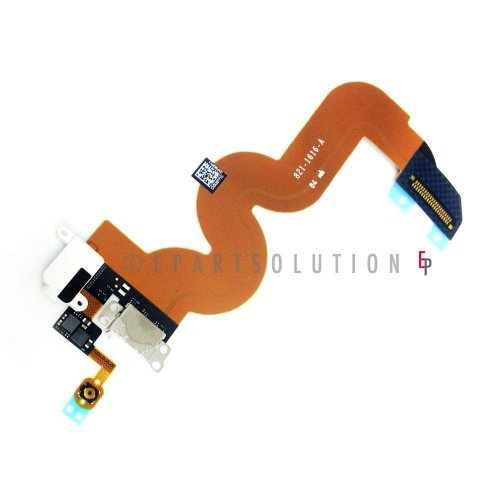 Epartsolution-Ipod Touch 5Th Gen White Charger Port Dock Connector Flex Cable Usb Port Charging Port With Audio Jack Flex Repair Part Usa Seller front-476477