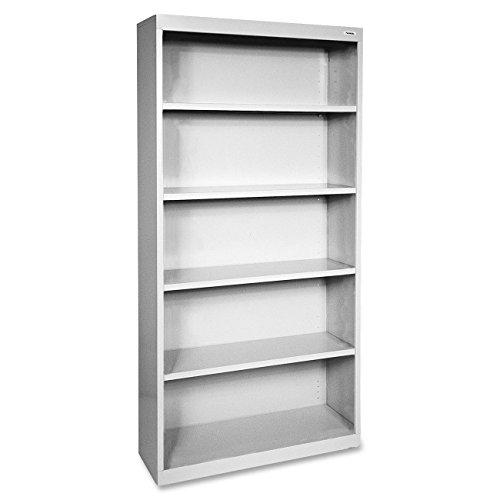 Lorell LLR41289 Fortress Series Steel Book Case, Light Gray Series Steel 3 Shelf Bookcase