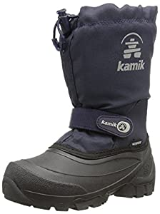 Kamik Snoday Insulated Winter Boot (Toddler/Little Kid/Big Kid), Dark Navy, 1 M US Little Kid