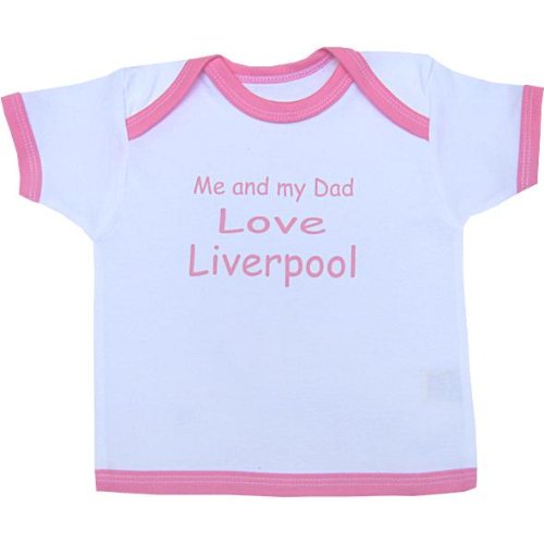 Me and my Dad Love Liverpool baby T Shirt Newborn-24 months in 9 Colours