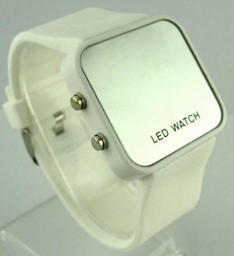 New sensations! ゼリーミラー type LED fashion watch and care with cross-original 2 point set R45 (white)