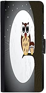 Snoogg Owl Sit On Branch With Baby Owl Designer Protective Phone Flip Case Cover For Lenovo Vibe S1