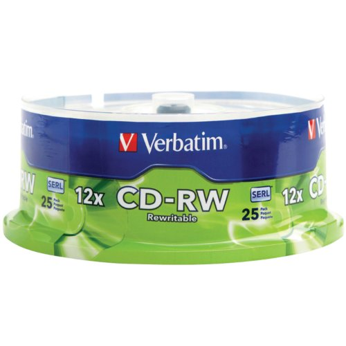 verbatim-700mb-4x-12x-80-minute-silver-rewritable-disc-cd-rw-25-disc-spindle-95155