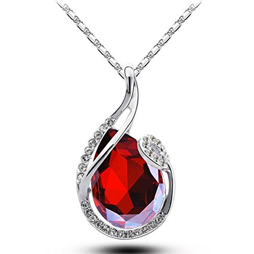 Museya Delicate Womens Girls Silver Plated Crystal