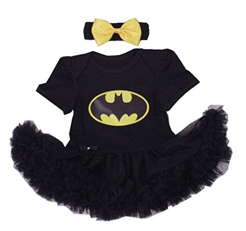 [Rush Dance Infant Baby Girl 1st First Birthday Celebration Tutu Romper Dress Set (Romper & Headband,] (Batman And Robin Movie Costumes)