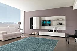 Sweet Home Stores Cozy Shag Collection Teal Solid Shag Rug Contemporary Living & Bedroom Soft Shaggy Area Rug, 60\