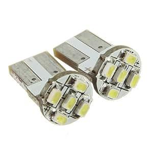 2xT10 501 W5W 5 SMD LED LAMPE AMPOULE Veilleuse BLANC Voiture ultra puissante auto lumiere