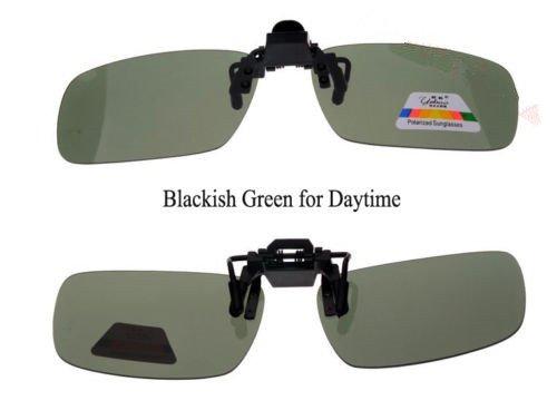 One-piece Sonnenbrillen-Clip Polarisierende Flip Up,UV 400 Sonnenbrille Brillen Aufsatz Clipon Clip On's Brille Sonnenbrillen,Sonnenbrillen-Clip für Brillenträger (Schwärzlichgrün)