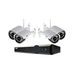 LOREX LH03045GC4W Eco Black Box 4-Channel Stratus DVR with 4 Wireless Cameras