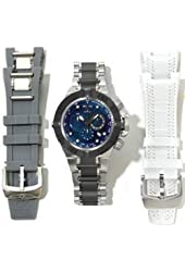 Invicta 11345 Mens Subaqua Diver Chronograph Staniless Steel Case and Bracelet Blue Tone Dial 500M Watch