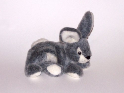 A&A Gray Flopsie Rabbit 12""