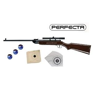 Luftgewehr Umarex Perfecta Mod. 31 (2.4954-1-SC) + Umarex Zielfernrohr 4x15 + 100 shoot-club Zielscheiben + 1.500 Umarex Mosquito Diabolos Kaliber 4,5 mm + 20 Umarex Zielscheiben - ShoXx.® Set (P18)