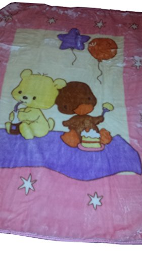 Cyber Monday 15% off regular price!!Bella Home Super Soft Baby Blanket (Teddy Bear and Duck)