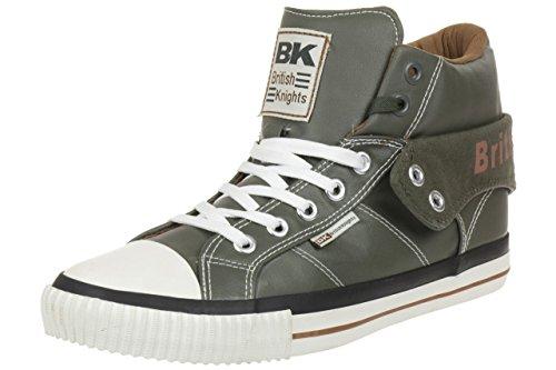 British Knights ROCO BK Herren Sneaker B34-3736-04 NEU grün olive cognac, Schuhgröße:EUR 39