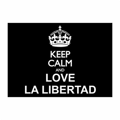 teeburon-keep-calm-and-love-la-libertad-packung-mit-4-aufkleber