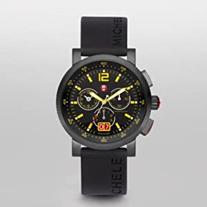 MICHELE Sport Sail Large Techno Yellow Onyx Silicone