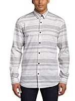 Selected Homme Camisa Hombre (Gris / Blanco)