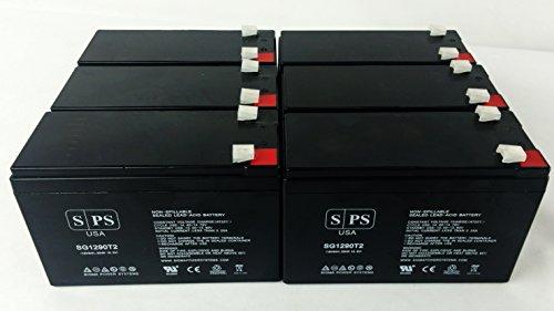 Sps Brand Ge Digital Energy It Series Ups1500Itsit Ups1500Itsir 12V 9Ah Replacement Battery ( 6 Pack)
