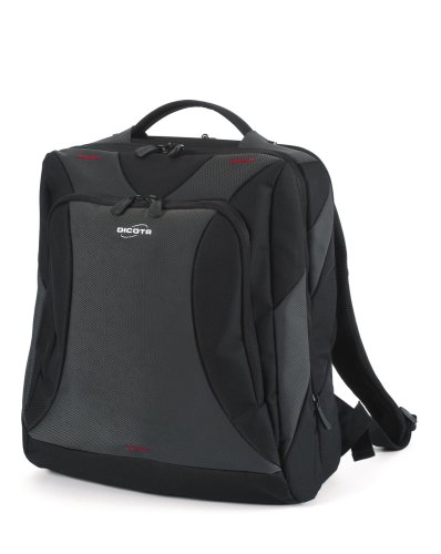 Dicota BacPac Broker - Notebook carrying backpack - black, silver grey