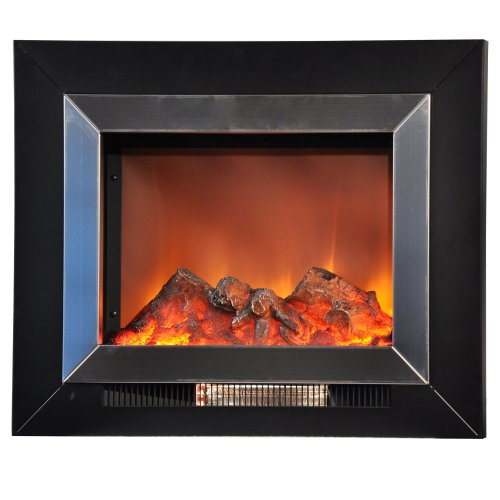 Yosemite Home Decor Df-Efp620-Ss 24-Inch Aries Wall Hung Electric Fireplace