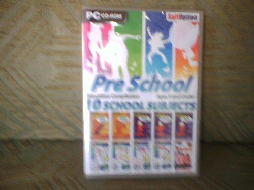 PRE SCHOOL EDUCATION COMPILATION 10 SCHOOL SUBJECTS PC CD ROM VISTA/XP