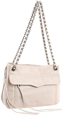 Rebecca Minkoff Women's Swing Shoulder Bag with Hidden Zipper, Vanilla