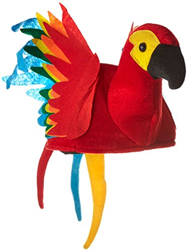 Plush Parrot Hat Party Accessory (1 count) (1/Pkg) (Parrot Party Supplies compare prices)
