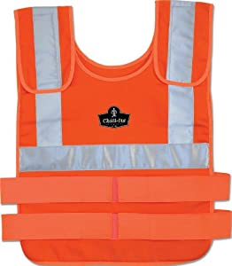 Chill-Its 6200 Phase Change Cooling Vest, Large/X-Large, Orange