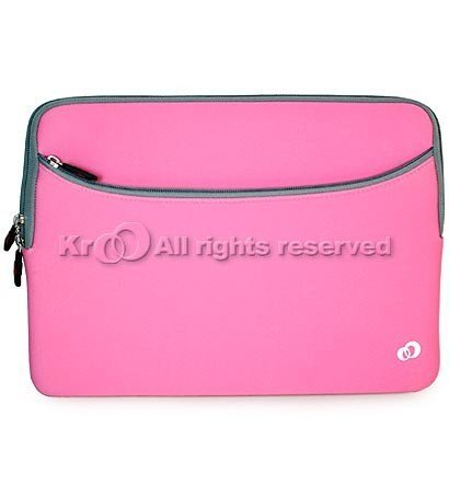 Kroo (Pink) Laptop Sleeve Coat with Accessory Compartment for Acer Aspire S7-391-6478 13.3 Multi-touch Ultrabook PC
