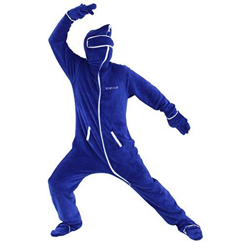 BIBILAB(ビビラボ) 人型寝袋 フリース EH-BLUE-L 【ニュータイプ着る毛布】