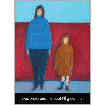 Fax Potato Greeting Card - Me, Mum and the coat I'll Grow Into - For birthday, Christmas, Anniversary, Christening, Graduation, Maternity, New Job, Retirement, New Home, Congratulations, Get Well Soon, Good Luck, Valentines Day, Sorry
