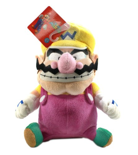 Little Buddy Super Mario Plush - Wario, 9-Inch