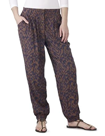 Joe Browns Women's Funky Aztec Trousers Taupe/Blue 4