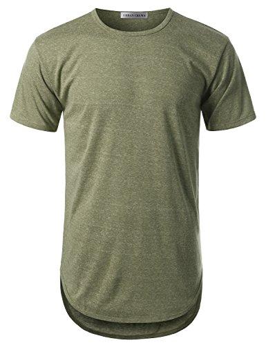 urbancrews-mens-hipster-hip-hop-melange-elong-crewneck-t-shirt-army-medium