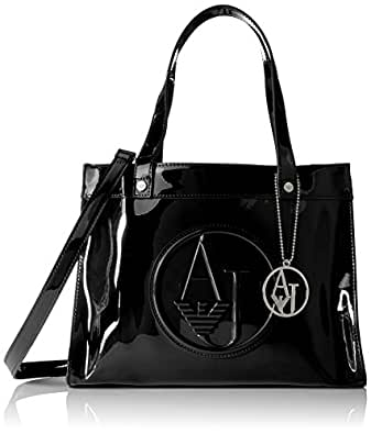Armani Jeans Small Tote Satchel Black One Size