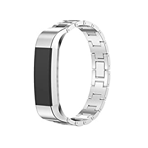 Dreaman Stainless Steel Watch Band Wrist Strap For Fitbit Alta Tracker Sliver